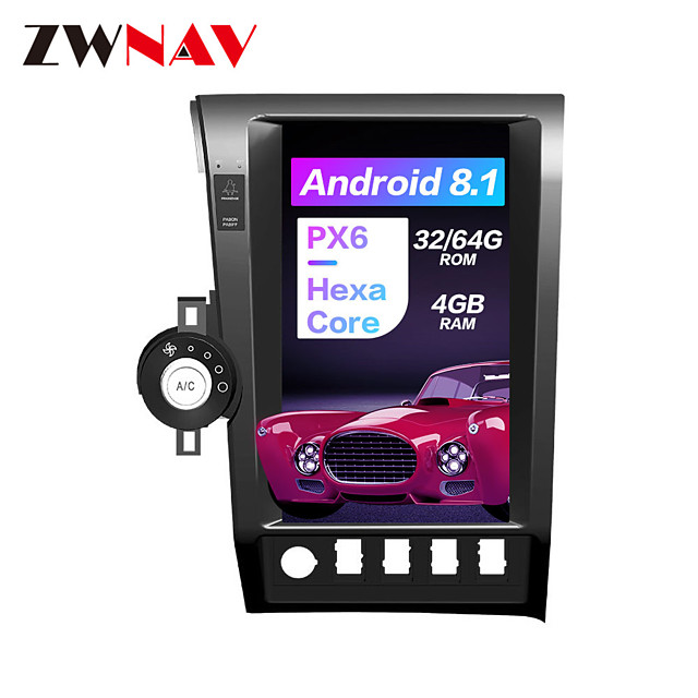 ZWNAV 13.6 inch 1din Android 8.1 Car Stereo Car GPS Navigation Car MP5 Player Car Multimedia Player 4GB 64GB Steering Wheel Control Radio Bluetooth WiFi HDMI for Toyota Tundra Sequoia 2007-2013
