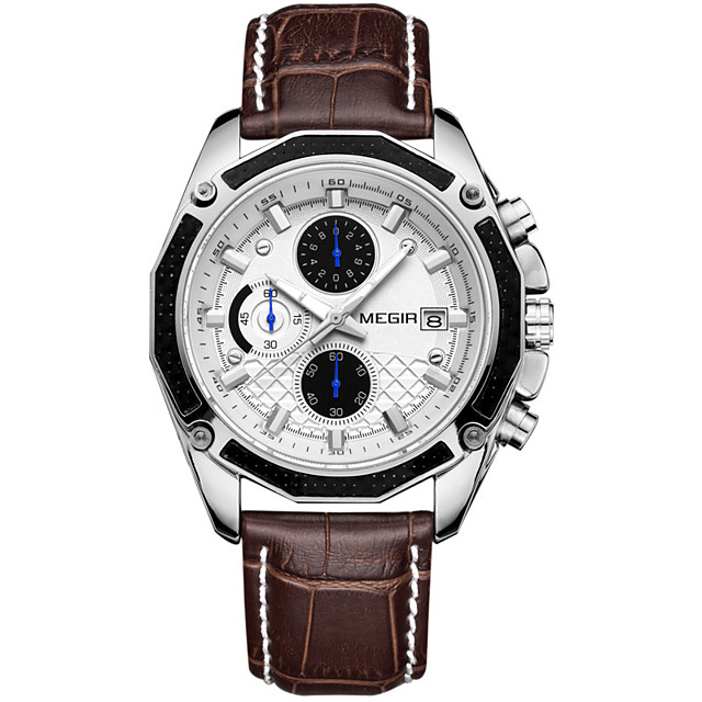 Men's Steel Band Watches Quartz Formal Style Stylish Leather Black / Brown 30 m Water Resistant / Waterproof New Design Shock Resistant Analog Luxury Fashion - Black Brown / Stainless Steel