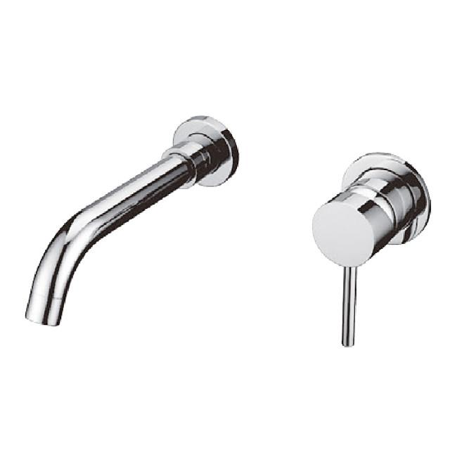 Bathroom Sink Faucet - High Quality Simple Design Silver Chrome Basin Faucet Brass Bathroom Sink Mixer Wash Tap