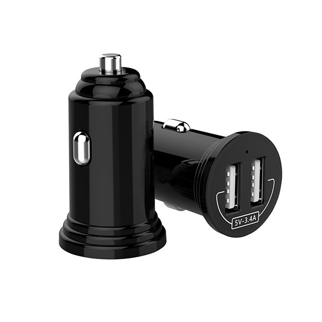 Mini Universal Dual USB Car Charger For Phone Dual USB Car Charger 3.4A Fast Charger For iPhone 7 8 X Xiaomi Car Phone Charger