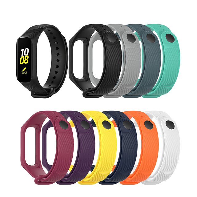 Watch Band for Galaxy fit e R375 Samsung Galaxy Classic Buckle Silicone Wrist Strap