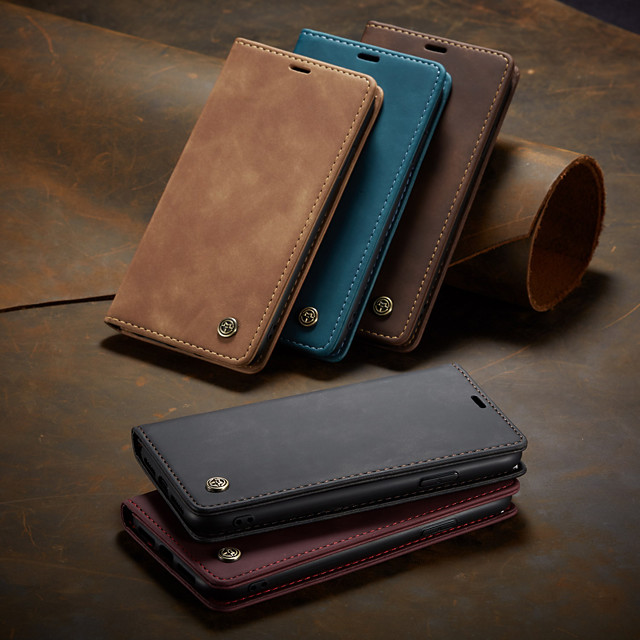 CaseMe New Retro Leather Magnetic Flip Case For iPhone11/iPhone 11 Pro/iPhone 11 Pro Max With Wallet Card Slot Stand Cover