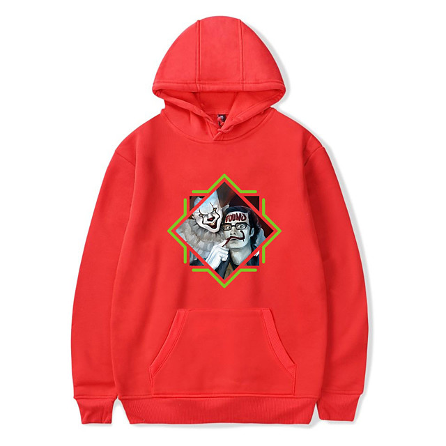 Inspired by Joker Pennywise Cosplay Costume Hoodie Polyster Print Hoodie For Men's / Women's