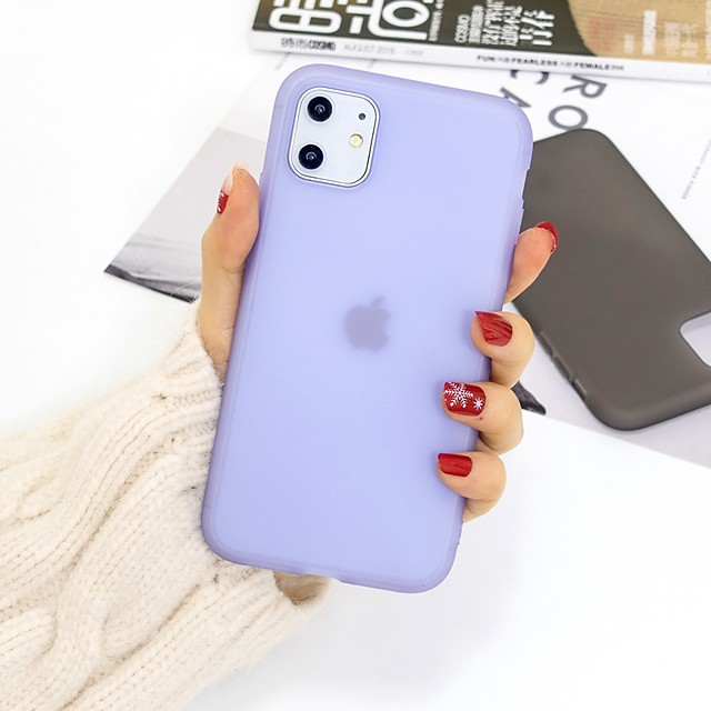 Case For Apple iPhone 11 / iPhone 11 Pro / iPhone 11 Pro Max Ultra-thin / Transparent Back Cover Solid Colored TPU For iPhone XS/XS Max/XR/XS/7/8 Plus/6/6s Plus