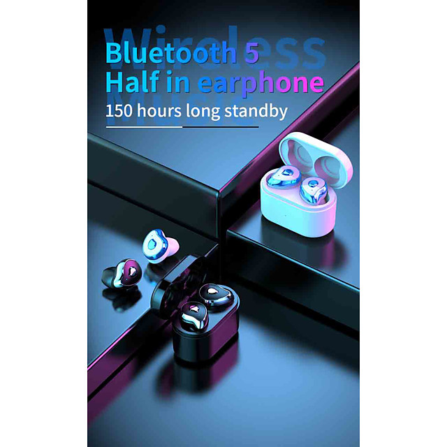 LITBest SE-6S TWS True Wireless Earbuds Wireless Bluetooth 5.0 Stereo Dual Drivers HIFI with Charging Box Auto Pairing for Travel Entertainment