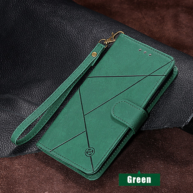 Case For Apple iPhone 11 / iPhone 11 Pro / iPhone 11 Pro Max Wallet / Card Holder / with Stand Full Body Cases Solid Colored / Geometric Pattern PU Leather for iPhone XS MAX XS XR X 8 PLUS 7 PLUS 6S