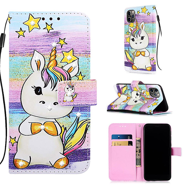 Case For Apple iPhone 11 / iPhone 11 Pro / iPhone 11 Pro Max Wallet / Card Holder / with Stand Full Body Cases Cartoon PU Leather for iPhone XS MAX XR XS X 8 PLUS 7 PLUS 6 PLUS 8 7 6S