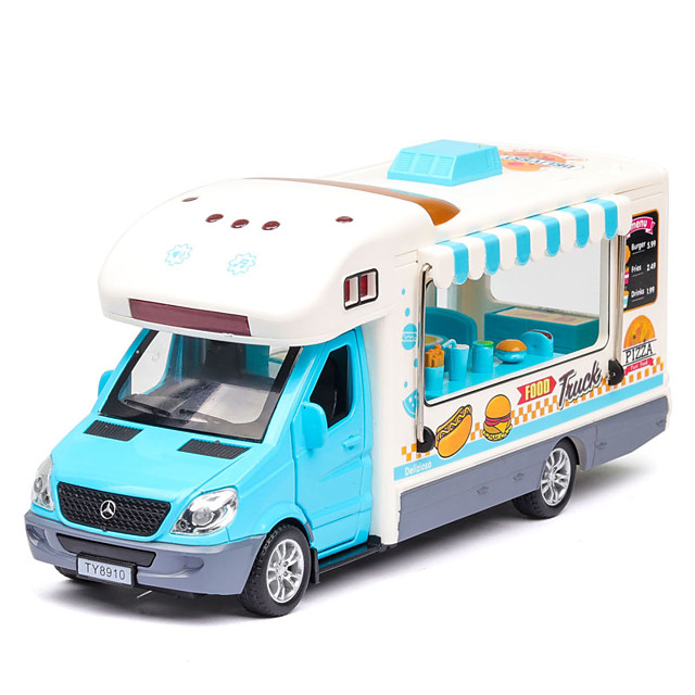 1:36 Toy Car Music Vehicles Creative Truck Construction Truck Set Bus Glow Singing Parent-Child Interaction Zinc Alloy Plastic Shell Rubber Mini Car Vehicles Toys for Party Favor or Kids Birthday Gift