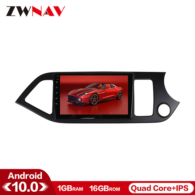 ZWNAV 9inch 1din 1GB 16GB Android 10 Car Multimedia Player Car MP5 Player WiFi Bluetooth Car Radio GPS Navigation Steering Wheel Control for 2011-2015 KIA Picanto Morning