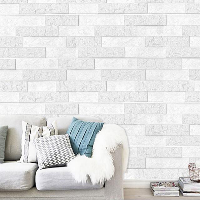 3D Brick Wall Stickers Living Room DIY PE Foam Wallpaper Panels Room Decal Brick Decoration Embossed Wallpapers Poster