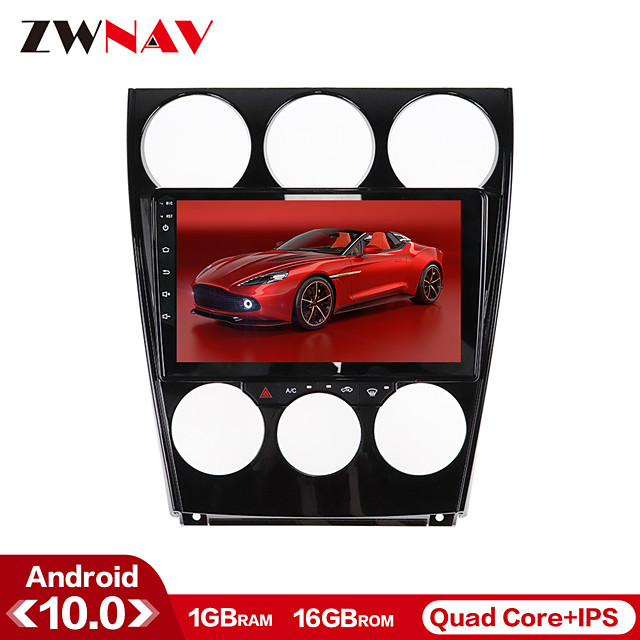 ZWNAV 9inch 1din 1GB 16GB Android 10 Car DVD Player Car MP5 Player Car GPS navigation Console Car multimedia system Manual Auto compatible auto stereo for Mazda 6 2002-2008