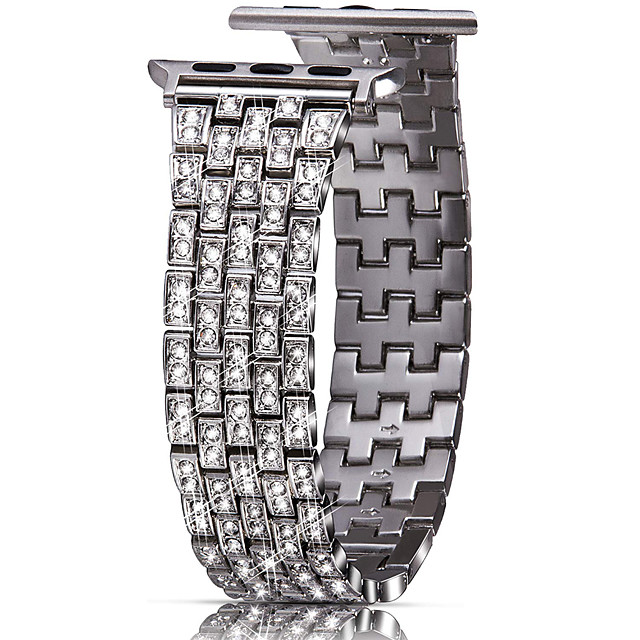 Luxury full Diamond metal Bracelet strap For Apple Watch series 1/2/3 38/40mm  fashion band for iwatch 4 5 bands 42/44mm