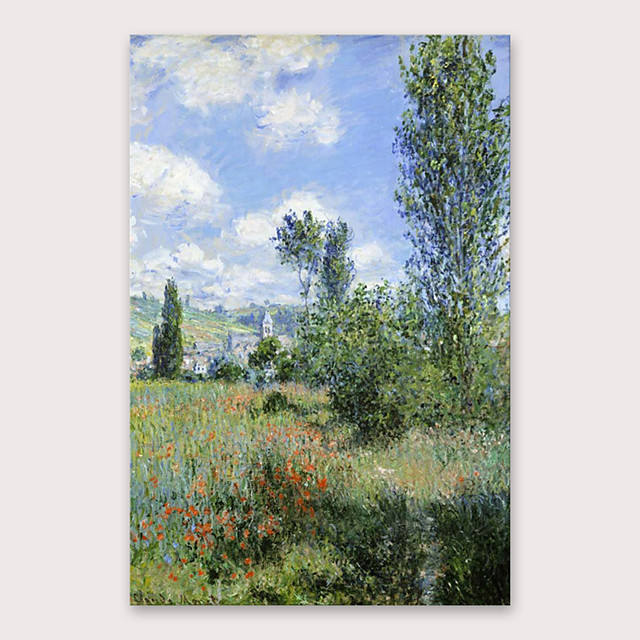 IARTS®Hand Painted Mountain scenery Oil Painting   with Stretched Frame For Home Decoration