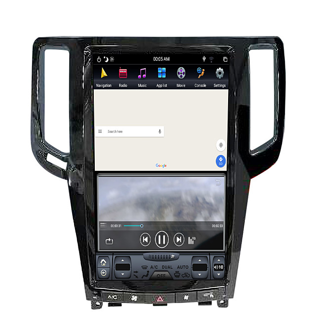 ZWNAV 13.5inch 1din Android 8.1 Tesla style 4GB 64GB Car GPS Navigation Car multimedia player Car MP5 Player For Infiniti G25 / Infiniti G37