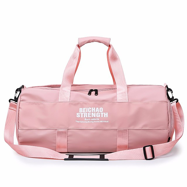Unisex Zipper PU Top Handle Bag Solid Color Blushing Pink / Black
