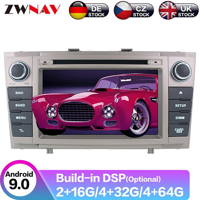 ZWNAV 7inch 2din 4GB 64GB Android 9 Car DVD Player GPS Navigation Car Multimedia Player radio tape recorder IPS Autoradio for Toyota Avensis T27 2009-2015
