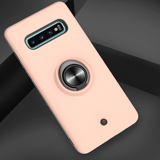 Case For Samsung Galaxy Galaxy S10 / Galaxy S10 Plus / Galaxy S10 E Shockproof / Ring Holder / Translucent Back Cover Armor PC