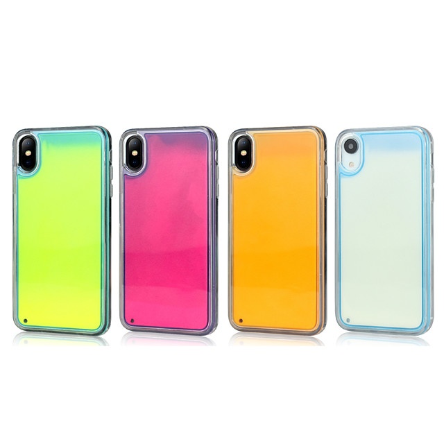 Case For Apple iPhone 11 / iPhone 11 Pro / iPhone 11 Pro Max Glow in the Dark / Shockproof / Ultra-thin Back Cover Solid Colored PC