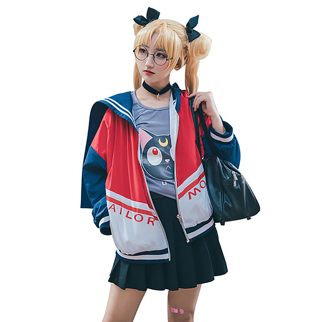 Inspired by Sailor Moon Sailor Moon Anime Cosplay Costumes Japanese Cosplay Suits Coat For Women's