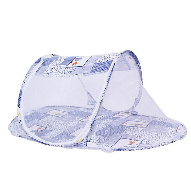 Baby Infant Bedding Crib Netting Portable Foldable Baby Mosquito Nets Bed Mattress Pillow Mosquito Net Tent Baby Infant Bed Dot Zipper Crib Sleeping Cushion collapsible portable