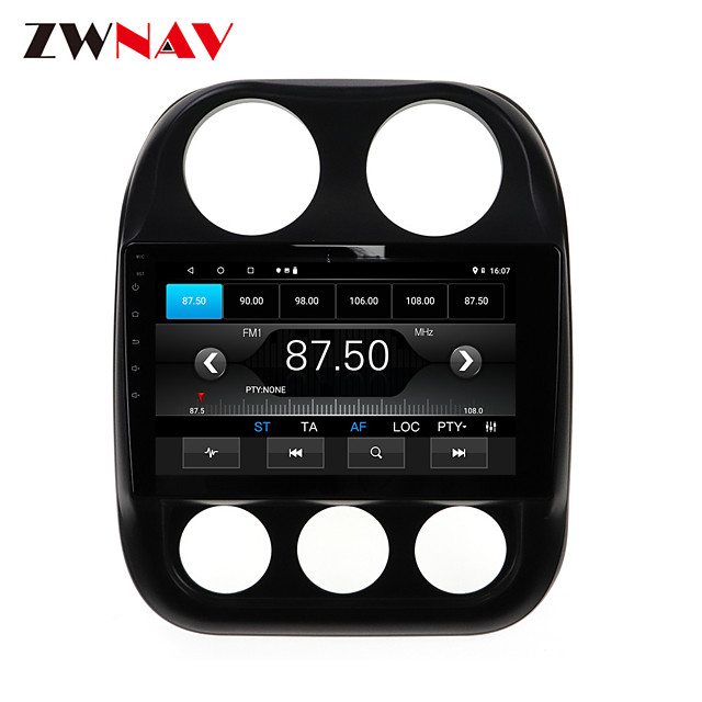 ZWNAV 10.1 inch 1din 1GB 16GB  Android 10.0 Car MP5 Player Car GPS Navigation Car Stereo Player Car Multimedia PlayDSP CarPlay For Jeep Compass 2010-2016er