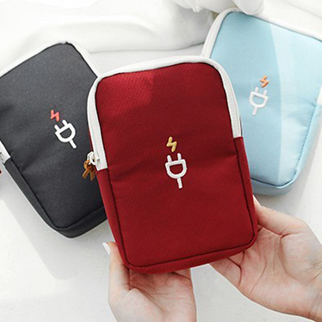 Portable Travel Gadget Storage Bag Cable Digital Bag Data Lines Package Organizer