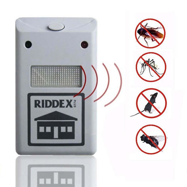 Riddex Plus Pest Repellent Repelling Aid For Rodent Roaches Ants Spider Pest Repellent Electronic Ultrasonic Only Suitable for Europe