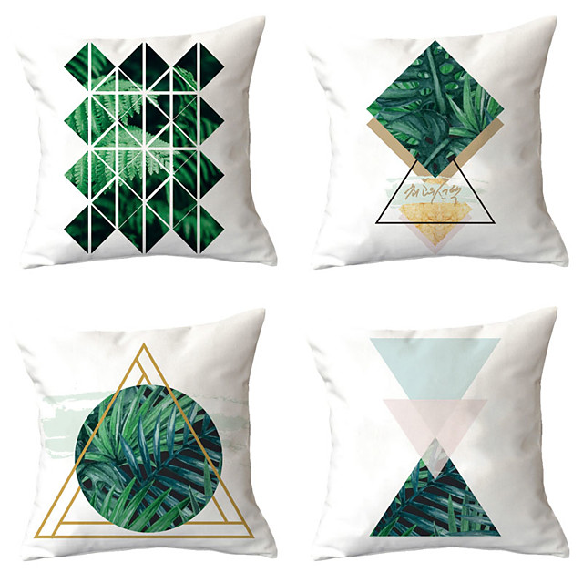 4 pcs Throw Pillow Simple Classic 45*45 cm