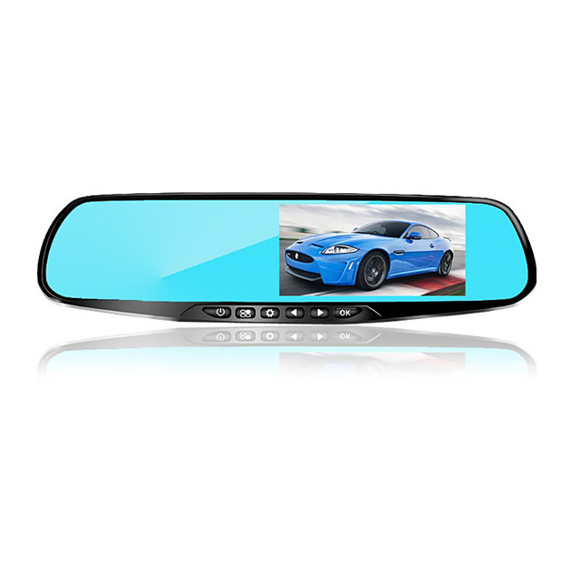 4.3-inch HD double lens rearview mirror driving recorder with electronic dog can record back-up images in front and back Mirror recorder 3.6 inches 1080p HD Car DVR 170 Degree Wide Angle CMOS