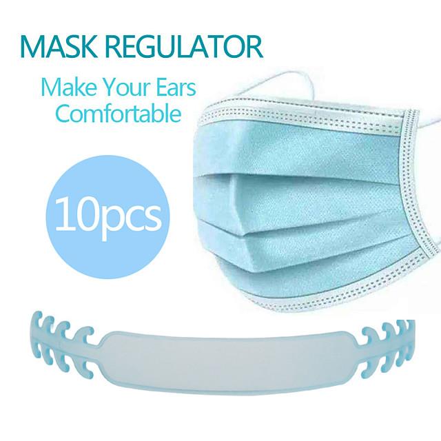 10pcs Mask Accessories Mask Extender Universal Mask Size Extending Hook Child Adult Slip Wearing Masks Snap Extender Headphone Cable Winder Charging Cable Winder Random Color