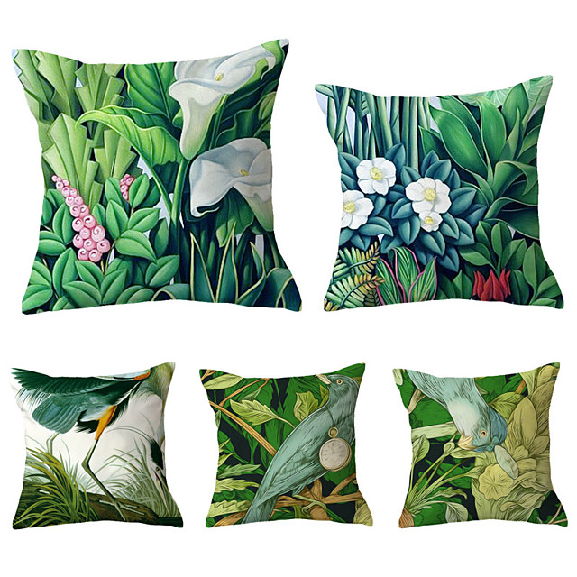 5 pcs Throw Pillow Simple Classic 45*45 cm