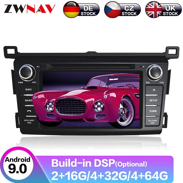 ZWNAV 7inch 2din 4GB 64GB DSP Auto stereo Android 9.0 Car GPS Navigation Auto Car Multimedia Player Radio recorder Car DVD player For Toyota RAV4 2013-2015