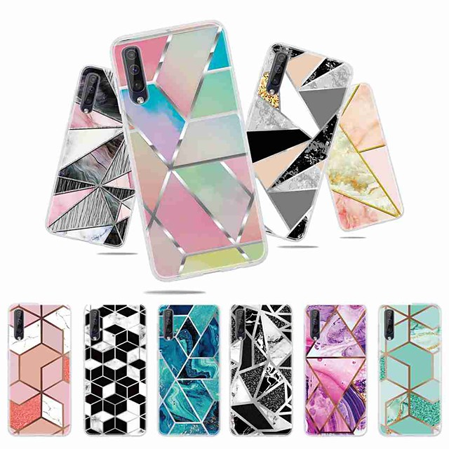 Case For Samsung Galaxy S9 / S9 Plus / S8 Plus Frosted / Pattern Back Cover Geometric Pattern TPU