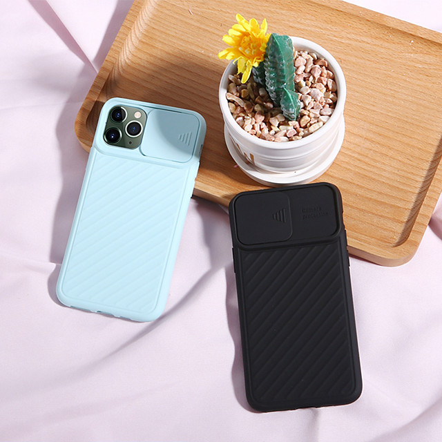 iPhone11Pro Max New Lens Push-pull Protective Phone Case XS Max Silicone Non-slip Feel 6/7 / 8Plus Universal Protective Sleeve