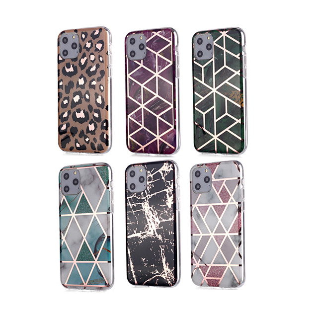 Case For Apple iPhone 11 11 Pro 11 Pro Max New diamond pattern marble pattern plating process thickened TPU material IMD process all-inclusive mobile phone shell