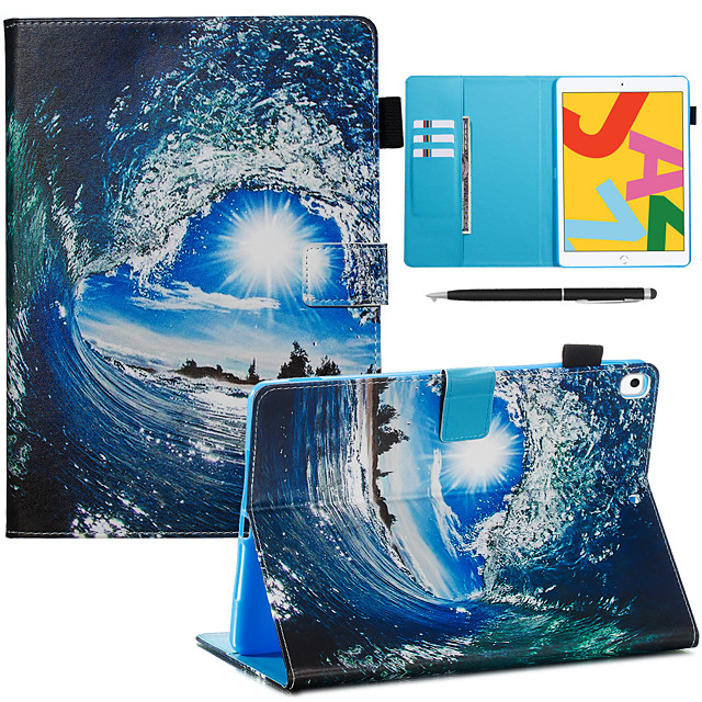 Case For Apple iPad Pro 10.5 / Ipad air3 10.5' 2019 with Stand / Flip / Ultra-thin Back Cover sky PU Leather