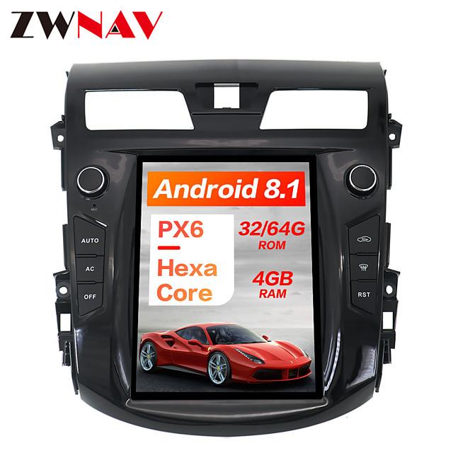 ZWNAV 10.4inch 1DIN 4GB 64GB Tesla style Android 8.1 Car GPS Navigation Car DVD Player Car multimedia Player For NISSAN TEANA 2013