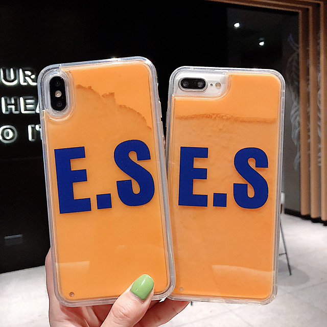 Case For Apple iPhone 11 / iPhone 11 Pro / iPhone 11 Pro Max Shockproof / Flowing Liquid / Ultra-thin Back Cover Word / Phrase / Solid Colored PC