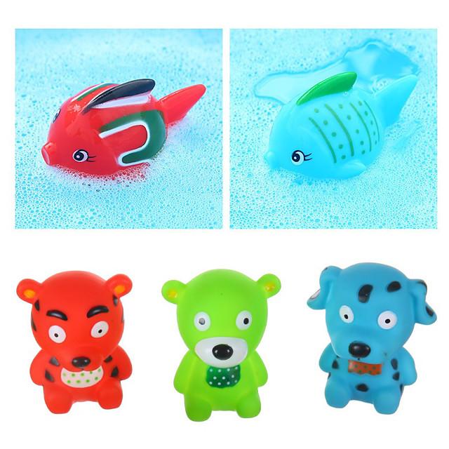 Bath Toys infloating Yellow Ducks Set Kids Little Dolphin Animals House Kids Bath Toys set