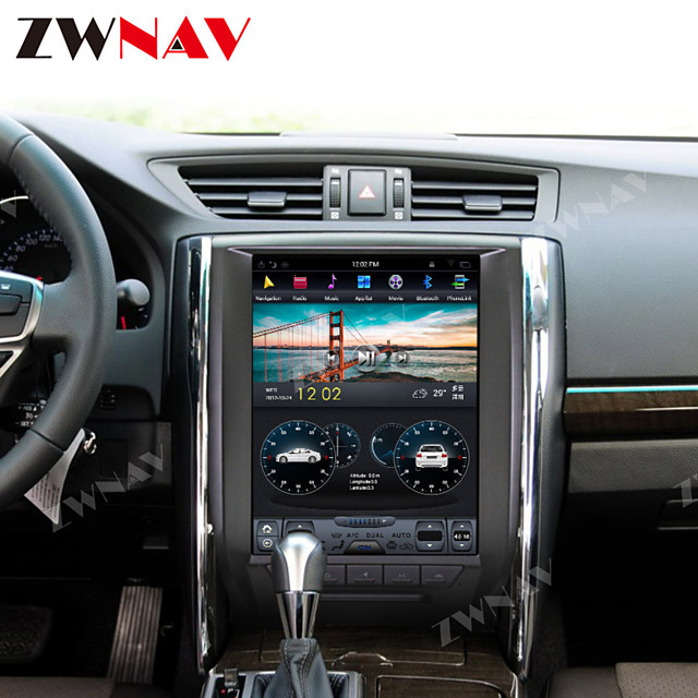 ZWNAV 12.1inch 1din 4GB 64GB Tesla style Android 8.1 Car GPS Navigation Car multimedia player radio tape recorder Car MP5 Player For Toyota Reiz X 2010-2013