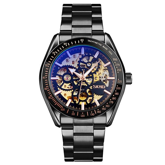 SKMEI 9194 Mechanical Watch Full Skeleton Stainless Steel watch