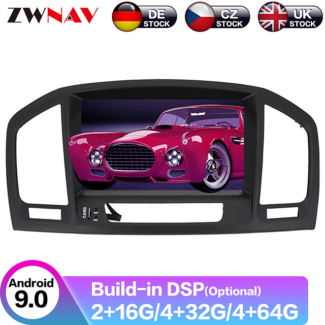 ZWNAV 8inch 2din 4GB 64GB Android 9 Car CD DVD Player Car GPS navigation Car Multimedia Player radio tape recorder For Opel Vauxhall Holden Insignia 2008-2013