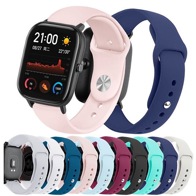 Watch Band for Amazfit GTS Xiaomi Sport Band Silicone Wrist Strap