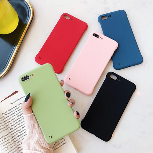 Case For Apple iPhone X / XS / XR / XS Max / 8 / 7 / 6 / 6s / 8 Plus / 7 Plus / 6 Plus Shockproof / Ultra-thin / Frosted Back Cover Solid Colored PC