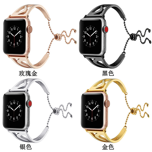 Watch Band for Apple Watch Series 5/4/3/2/1 Apple Jewelry Design Stainless Steel Wrist Strap