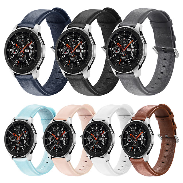 Watch Band for Amazfit GTR 47mm Xiaomi Sport Band Genuine Leather Wrist Strap