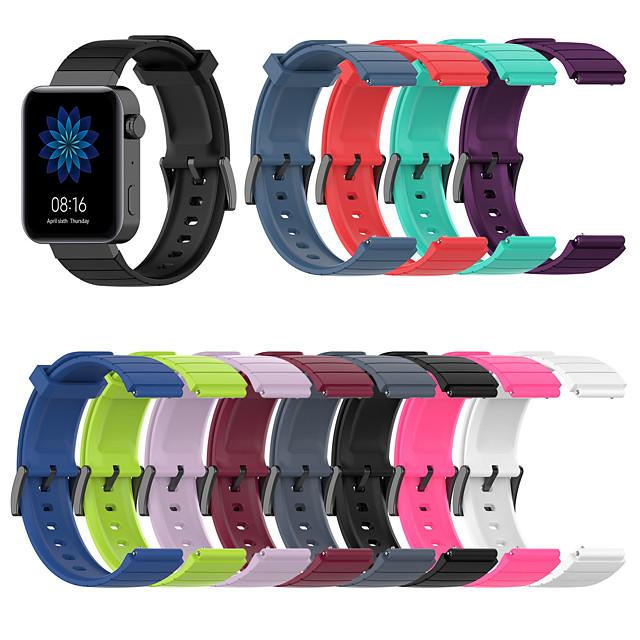 18mm Watch Band for Mi Smartwatch Xiaomi Sport Band / Classic Buckle Silicone Wrist Strap