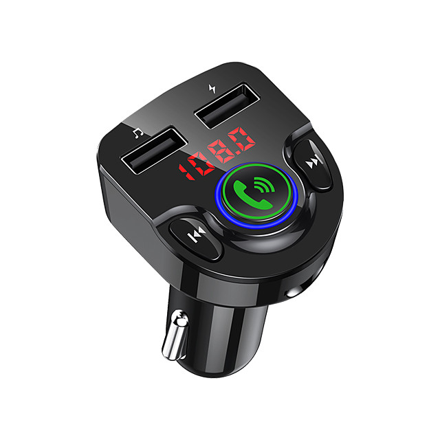 Bluetooth FM Transmitter for Car QC3.0 LED Backlit Car Radio Bluetooth Adapter Music Player Hands Free Car Kit with SD Card Slot Supports USB Flash Drive G32