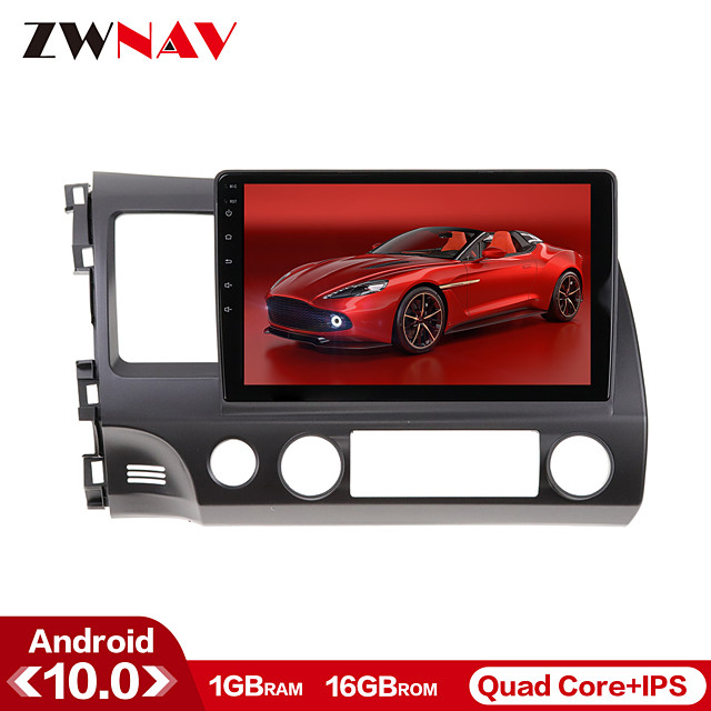 ZWNAV 10.1 inch 1din 1GB 16GB Android 10 IPS Car GPS Navigation Car Radio Player Car Multimedia Player Car MP5 Player Tape Recorder For Honda CIVIC 2006-2011