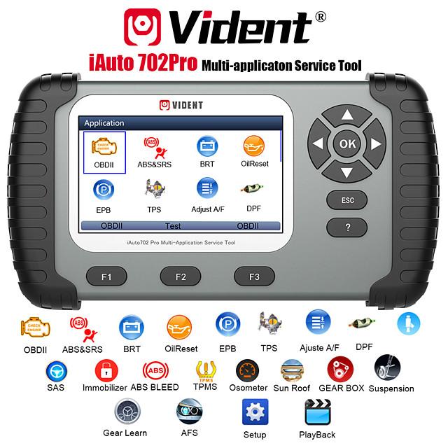 VIDENT iAuto 702 Pro Multi-applicaton Service Tool Support ABS/SRS/EPB/DPF Update to 19 Maintenances